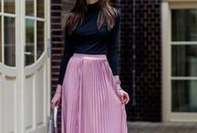 Knee & Midi Skirts / Fabulous knee length and midi skirts. These looks are modest and chic and best of all do not require any layering! Follow Mode-sty to see the most beautiful stylish modest clothing!