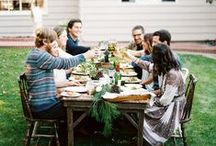Gatherings / Eat, drink, and be with people.