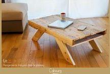 Tables basses / Tables basses créées à partir de bois de palettes recyclé.  Possibilité de création sur-mesure. Me contacter selon vos besoins.