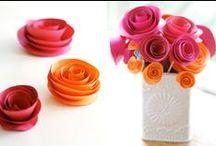 Bloemen van papier / Paper flowers / Make beautiful paper flowers with these tutorials!