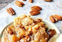 Cobblers, Crumbles & Crisps / The ultimate comfort food of desserts.  These cobblers, crumbles, and crisps pair well with a side of vanilla bean ice cream and are best when they're warm and gooey - straight from the oven!