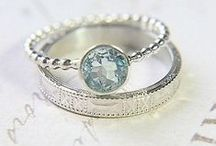 Wedding rings. / Absolutely beautifully perfect rings. Lots of engagement rings as well!   Elegant, classical, unique, and even some colorful! I definitely love the look of a lot of the aquamarine ones. :) / by Xandria Elizabeth