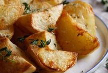 Spuds. / This board is dedicated to my never ending love of potatoes in their endless shapes and forms. Baked, scalloped, mashed, fried, and more! / by Xandria Elizabeth