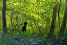 ART: Les Nabis / Les Nabis were a group of Post-Impressionist artists in 1890s Paris, including Maurice Denis, Pierre Bonnard, and Edouard Vuillard. They combined Impressionist brush strokes with vivid colors, an at-times mystical or symbolic subject matter, and an interest in patterned and repeating backgrounds. / by Rachel Gray
