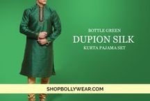 ShopBollyWear - Menswear / Dress in our stunning Sherwani's, Dhoti Sherwani, Kurti Pajamas and let the guests go crazy over your glamorous avatar. Our Kurta Pyjama and Dhoti Kurta's comes-up as a classy choice for any event.