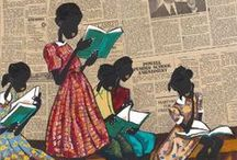 """ART: Readers / People """"caught in the act"""" of reading... / by Rachel Gray"""