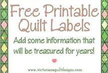 Printables for Quilters / Free Quilter Calculator Charts, Graph Papers & More! / by Victoriana Quilt Designs