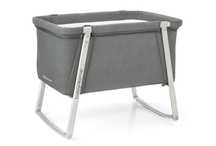 Dream / 'Dream' was the first aluminium mini cradle of the market. This innovative system allows the structure to be fixed, in motion through four wheels located inside the legs structure or swing as a little rocking cot. To guarantee the major comfort possible, the fabric can be washed by removing it from the aluminum structure with zips.  / by Babyhome