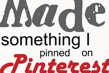 Pin Reviews - Pins I've tried / Pinterest faves and flops. What WE thought of the DIY, project, recipe, taste, look, etc.