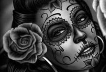Day of the Dead - Dia de los Muertos / Beautiful Day of the Dead images, tattoos, art etc.