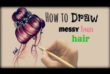 How To Draw | Hair / Ideas and tutorials on how to draw hair / by Kate Palmer