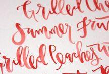 caligrafía | lettering | typo
