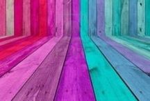 Inspiration | Rainbow Images / Images and ideas using a whole Rainbow of colours