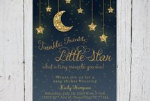 Twinkle Twinkle Little Star Baby Shower / navy & gold baby boy shower inspirations.  / by Nadia Carreon