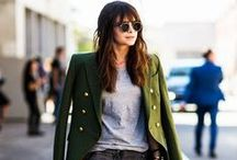 Let's Talk Trends: Military Might / For the dish on fall fashion's military inspiration—from a few well-placed zips and pockets to olive-green-everything—stop by the blog where our stylists Richmond and Kristen are sounding off: http://anthrpl.ge/QJnyk  / by Anthropologie