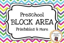 Preschool Block Center / Expand block area play in your preschool or homeschool classroom with these themed block area printables, activities and ideas.
