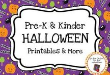 Halloween Theme / Halloween theme activities, ideas and printables for your preschool or kindergarten Halloween unit curriculum.  Explore spiders, witches, candy, costumes and more!