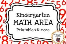 Kindergarten Math Centers / Expand the math centers in your homeschool or kindergarten classroom with these themed activities, printables and ideas.