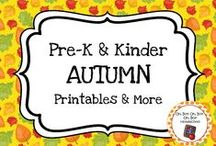 Autumn Theme / Autumn theme activities,ideas and printables to add to your preschool or kindergarten autumn/fall unit curriculum.  Explore leaves, pumpkins, apples, fall clothes, fall activities and more.