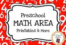 Preschool Math Area / Expand the math area in your homeschool or preschool classroom with these themed activities, printables and ideas.