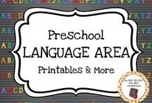 Preschool Language Area / Expand the language center in your homeschool or preschool classroom with these themed activities, printables and ideas.
