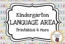 Kindergarten Language Area / Expand the language center in your homeschool or kindergarten classroom with these themed activities, printables and ideas.