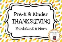 Thanksgiving Theme / Thanksgiving theme activities, ideas and printables for you preschool or kindergarten Thanksgiving unit curriculum.  Explore pilgrims, Thanksgiving dinner, traditions, Plymouth and more.