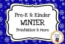 Winter Theme / Winter theme activities, ideas and printables to add to your preschool or kindergarten winter unit curriculum.  Explore snow, ice, winter clothes and winter activities!