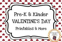 Valentine's Day Theme / Valentine's Day theme activities, ideas and printables for your preschool or kindergarten Valentine's Day unit curriculum.  Explore the colors pink and red, hearts, love, service, and m more!