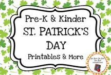 St. Patrick's Day Theme / St. Patrick's Day theme activities, ideas and printables for your preschool or kindergarten St. Patrick's Day unit curriculum.  Exlpore the color green, coins, leprechauns, shamrocks, rainbows and more!