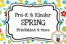 Spring Theme / Spring theme activities, ideas and printables for your preschool or kindergarten spring time unit curriculum.  Explore flowers, baby animals, wind, kites and more!