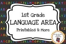 First Grade Language Area / Expand the language area in your homeschool or first grade classroom with these themed activities, printables and ideas.