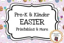Easter Theme / Easter theme printables, ideas and activities for your preschool or kindergarten Easter unit curriculum.  Explore eggs, rabbits, baskets, candy and more.
