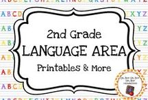 Second Grade Language Area / Expand your language center in your homeschool or second grade classroom with these themed activities, printables and ideas.
