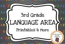 Third Grade Language Center / Expand the language center in your homeschool or third grade classroom with these themed activities, printables and ideas.