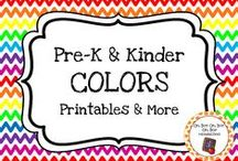 Color Theme / Color themed curriculum, activities, printables and ideas for your preschool or kindergarten color unit curriculum.