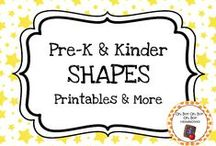 Shape Theme / Shape theme activities, ideas and printables for your preschool or kindergarten shape unit curriculum.