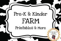 Farm Theme / Farm theme printables, ideas and activities to add to your preschool or kindergarten farm unit.  Explore farm equipment, farming and farm animals like cows, pigs, horses, chickens and sheep!