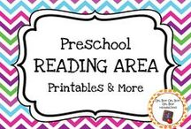 Preschool Reading Centers / Expand the reading area in your homeschool or preschool classroom with these themed printables, activities and ideas.