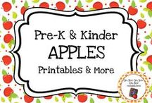 Apple Theme / Apple theme activities, ideas and printables for you preschool or kindergarten apple unit curriculum.  Explore parts of apples, apple colors, harvest, apple sauce and other yummy apple treats.