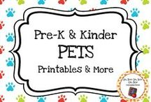 Pet Theme / Pet theme activities, ideas and printables for your preschool or kindergarten pet unit curriculum.  Explore cats, dogs, fish, birds, hamsters and more!