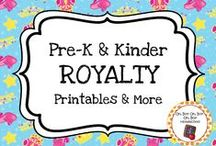 Royalty Theme / Royalty theme activities, ideas and printables for you preschool or kindergarten royalty unit curriculum.  Explore kings, queens, princesses, princes, knights, castles and dragons!