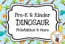 Dinosaur Theme / Dinosaur theme activities, ideas and printables for you preschool or kindergarten dinosaur unit.  Explore carnivores, herbivores, omnivores, extinction, Jurassic era and more!