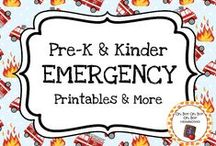 Emergency Theme / Emergency theme activities, ideas and printables for your preschool or kindergarten emergency unit.  Explore ambulances and paramedics, firetrucks and firefighters, and police cars and police officers!