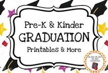 Graduation Theme / Graduation theme activities, ideas and printables for you preschool or kindergarten graduation unit curriculum or end of the year graduation party.