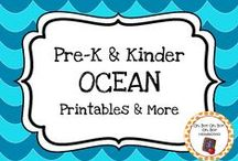 Ocean Theme / Ocean theme activities, ideas and printables for your preschool or kindergarten ocean unit curriculum.  Explore ocean animals, coral, tides, beaches and more!