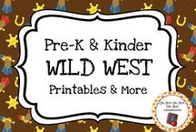 Wild West Theme / Wild west theme activities, ideas and printables for your preschool or kindergarten wild west unit curriculum.   Explore the wild west, cowboys, ranching, cattle and more!