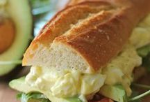 #SANDWICH LOVE / favorite sandwiches and opened feced sandwiches...also, crostini with toppings