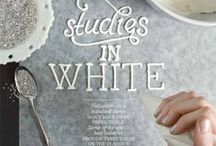 Gorgeous WHITE / White is associated with light, goodness, innocence, purity, and virginity. It is considered to be the color of perfection. White means safety, purity, and cleanliness. As opposed to black, white usually has a positive connotation.