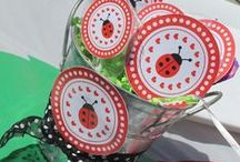 Ladybug Party Ideas / Great ideas for Ladybug party cakes, decorations, printables,  food and more!